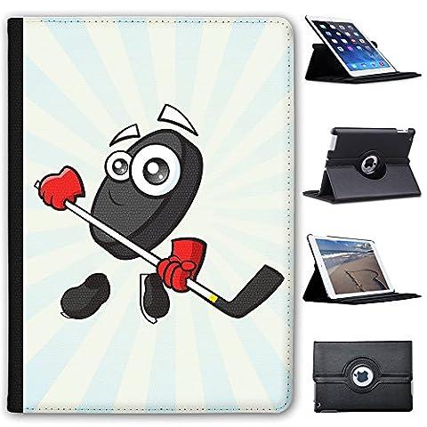 """Sporticon Eishockey Puck Schlittschuhe Case Cover / Folio aus Kunstleder für das Apple iPad Pro 9.7"""""""