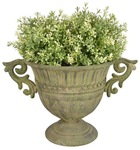 Esschert Design AM67gealtertes Metall Urne, rund, klein, grün -