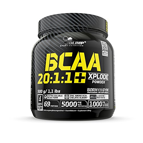 Olimp BCAA 20:1:1 Xplode Powder | Aminosäuren mit Citrullin für einen extremen Muskelpump | Grapefruit Geschmack | 500 g Albion Form