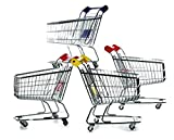 hibuy Mini Deko Supermarkt Einkaufswagen aus Metall, Gitterwagen Kinder Spielzeug, Geschenkidee, Wichtelgeschenk, 22cm Lang, Farbe: rot
