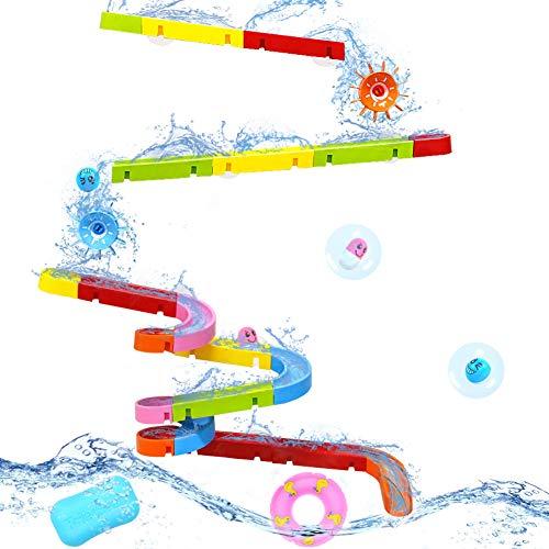 Symiu Juguete de Baño Pista Canicas Circuito Bolas Juegos de Agua Bañera Bebe para Niños 18+ Meses