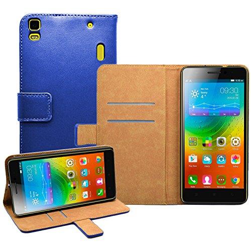 Membrane - Azul Cartera Funda Carcasa para Lenovo K3 Note (K50-t5) - Wallet Case Cover + 2 protectores de pantalla