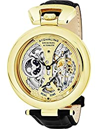 Stuhrling Original Special Reserve Emperor's Grandeur Men's Automatic Watch with Multicolour Dial Analogue Display and Black Leather Strap 127A.333531