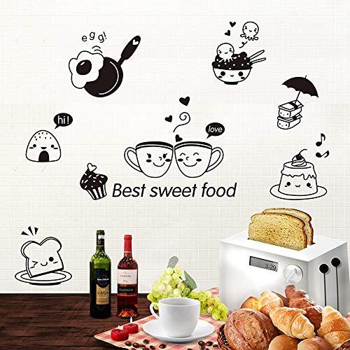 aufkleber Kaffee Süße Lebensmittel DIY Wandkunst Aufkleber Dekoration Ofen Esszimmer Halle Tapeten PVC Wandtattoos/Klebstoff ()