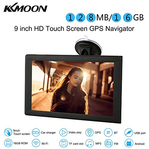 "KKmoon 9"" GPS Navegador Pantalla Tactil Android 16 GB Multimedia Reproductor WiFi BT FM USB/SD + Mapa Libre Europea"