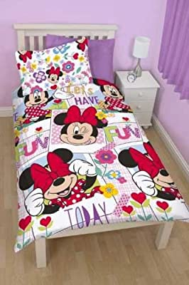 Minnie Mouse Meadow Bedding Set - Single. produced by Disney - quick delivery from UK.