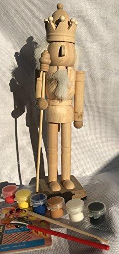 ussknackern, handgefertigt 24cm hoch, DIY Soldat Nussknacker, unlackiert Nussknackern mit Tafel. DIY Kit, Gemälde DIY Set (Nussknacker-kit)