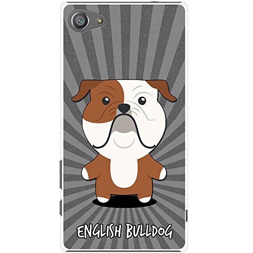 Englische Bulldogge, Britische Bulldogge Hartschalenhülle Telefonhülle zum Aufstecken für Sony Xperia Z5 Compact (Valentine Bulldogge Englische)