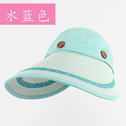 LLZTYM Women/Summer/Anti Ultraviolet/Sunshade/Outdoor/Gift/Headwear/Hat blue