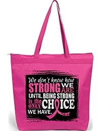 How Strong We Are Tote Bag The Darcey (Hot Pink) By Fight Like A Girl