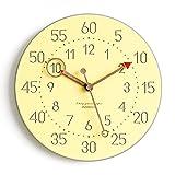 YANXUEPING Minimalistische Mode Home Clock, Moderne Stumm, europäischen Stil Quarzuhr,12 Zoll, Farbe Gelb