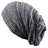 Outflower Copricapo moda autunno - inverno, cappello lavorato a maglia a due colori piegati Cappucci caldi Cappellino in lana hip hop, d, 42-65cm
