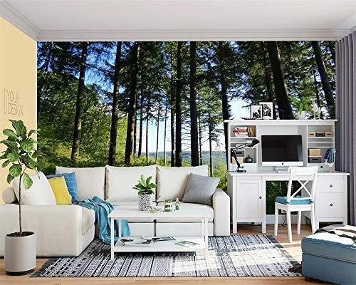 äischen Frische Big Tree Hd Landschaft Tv Hintergrund Wand 3D Wohnzimmer Schlafzimmer Hintergrundbild 3D Tapete-300cmX210cm ()