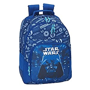 51tK5bpnElL. SS300  - Star Wars 2018 Mochila Tipo Casual, 42 cm, 20 litros, Azul Marino