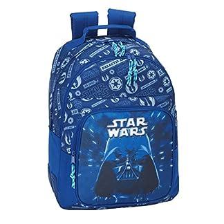 51tK5bpnElL. SS324  - Star Wars 2018 Mochila Tipo Casual, 42 cm, 20 litros, Azul Marino