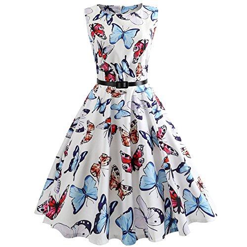 Qmber Damen Midi Trachtenkleid für Oktoberfest Stickerei Kleid Bluse chürze Kleider Brautjungfernkleid Petticoat Über Dem Knie -