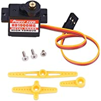 Price comparsion for Dilwe RC Metal Gear Servo Remote Control Servo with Horns and Screws Steering Gear Accessory for Align 450 Helicopter Airplane