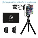 Smart Phone Universal Camera Lens Kit for most cell phones(Apple iphone 5, iphone 4, 4s, iPhone 3,3s, Samsung Galaxy S3, S2, Samsung Note II GT-N7100, Samsung Galaxy S3 mini, HTC ONE X, Blackberry Bold Touch, Motorola Droid) and Many more Smart phones / O