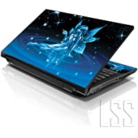"""LSS 15""""y 15,6pulgadas portátil notebook piel Sticker Cover Art vinilo para 13.3"""" 14""""15.6"""" 16""""HP Dell Lenovo Apple Asus Acer Compaq (libre 2muñeca Pad incluido) de Cenicienta con alas"""