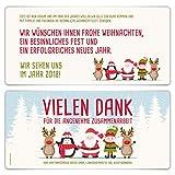30 x Weihnachtskarten Firmen Geschäftlich Business Grußkarten Weihnachten - Comic Weihnachtsmann Zeichnung