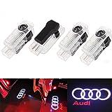 THG 4 piezas de LED proyector puerta logotipo de la sombra de luz Lámparas de bienvenida de cortesía Luces Kit para Audi