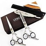 """Unicorn Plus® Professionnel Ciseaux de coiffure 6.5""""Ciseaux pour couper les cheveux et l'amincissement avec rasoir en acier inoxydable - Barber Hair Ciseaux Salon Razor edge series"""