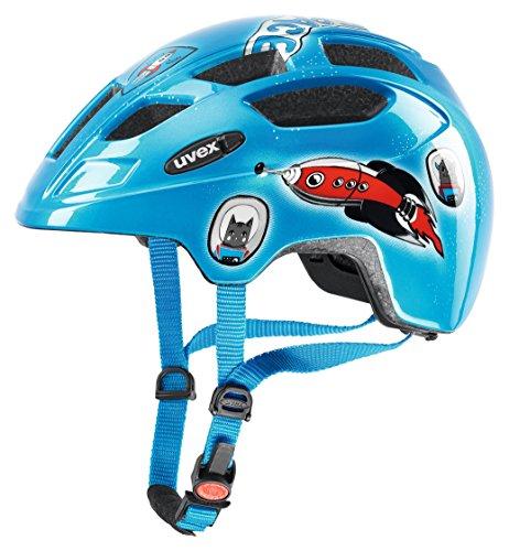 Uvex 414807 Kinder Fahrradhelm , Mehrfarbig(Blau),47-52