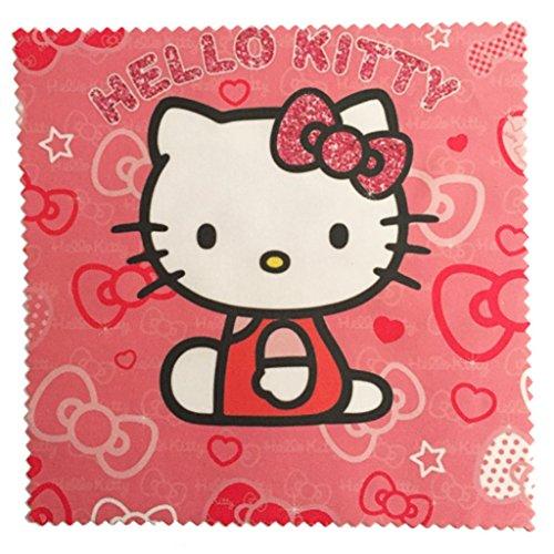 Microfasertuch zum Brille reinigen - Motiv Hello Kitty | Brillenputztuch