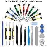 AUTOPkio 27 en 1 outils de réparation kit tournevis pour iPhone 7, Huawei P8, autres téléphones intelligents et appareils