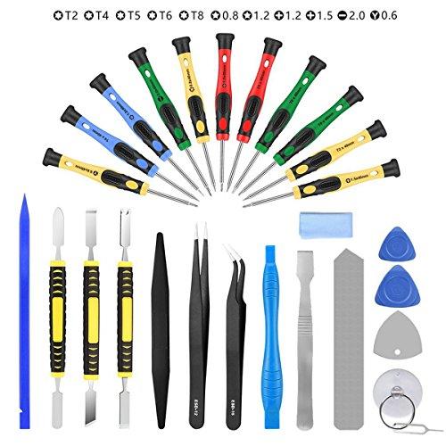 AUTOPkio 27 in 1 Repair Tool Set Kit de herramientas para iPhone 7, Huawei P8, smartphone, multimedia u otros pequeños electrodomésticos (27 in 1) (27 in 1)
