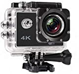 Spirili 4K Action Sports Camera with 16 Mega Pixel/Rechargeable Lithium Ion Battery / 1080P / 32 GB SD Card Supported/Wide Angel Compatible with Android, iOS & Windows Devices (Random Color)