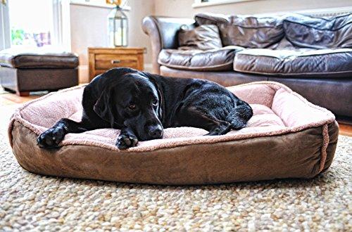 Luxury Fleece Cradle Dog Bed Size Extra Large XL 2