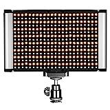 Neewer On-Kamera LED Videolicht mit Standard-Zubehörschuh 280 LED-Perlen 3200-5600K CRI 95+ Professionell Dimmbar Zweifarbig für Portrait Produkt Fotografie YouTube Video Aufnahmen