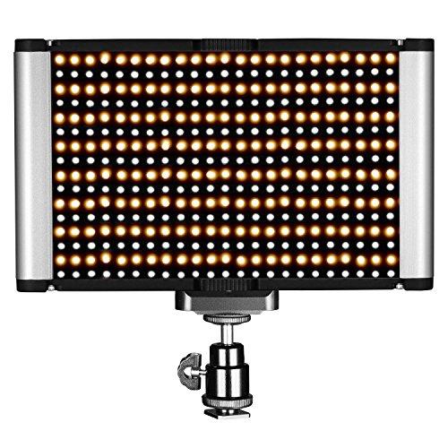 Neewer Pannello Luce LED Dimmerabile da 2 Colori con Standard Coldshoe Professionale su Fotocamera per Ritratti, Fotografia di Prodotti, Studio, Youtube Video, Registrazioni Video Outdoor, 280 Bulbi LED, 3200-5600K, Indice Rendimento Cromatico (CRI) 95+