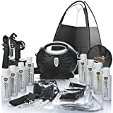 Rapidtan HVLP Airbrush Spray Tan Kit with Tent, 6 x Tan Solutions
