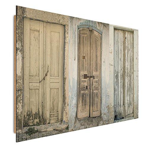 Feeby Frames, Immagine da parete, Immagine decorativa, Immagine stampata, Immagine Deco Panel, 78x118 cm, PORTE, (3 Appartamento Porta Panel)