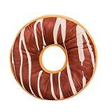 Xinan Kissenbezug Soft Plüsch Kissen gefüllt Seat Pad Sweet Donut Foods Kissen Case Toys (40cm x 40cm x 12cm, I)