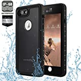 HMIAO IPhone 7/8 Waterproof Case Underwater Case Shockproof/Dirtproof/Snowproof Shatterproof For IPhone 7/8- Full Body Cover IP68 Certified With Touch Sensitivity (4.7inch)