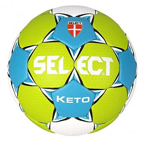 Select Keto–Balón de balonmano, color verde / azul, tamaño 2