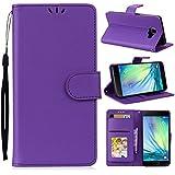 Samsung Galaxy A3 (2016) A310 Case, Danallc [ Portable Wallet ] [ Slim Fit ] Heavy Duty Protective Man Flip Cover Wallet Case Compatible With Samsung Galaxy A3 (2016) A310 - Purple