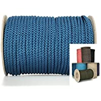 Viva Nature, corda in polipropilene in diversi colori, rotolo da 50m, spessore 5mm, intrecciata, corda PP, cavo per ormeggio, blu jeans