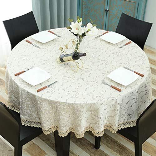 GFZB1201 Tischwäsche Europäische Konferenztischdecke für Den Haushalt Esstisch Runder Wohnzimmertisch Couchtisch (Color : Beige, Size : 160cm)
