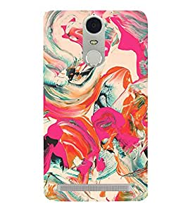 Colorful Abstract 3D Hard Polycarbonate Designer Back Case Cover for Lenovo Vibe K5 Note