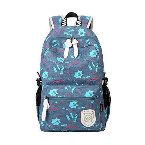 Dosige 1 Stück Schulranzen Beiläufig Schulrucksack Mädchen Teenager Print Damen Backpack Rucksäcke für Die Schule 46 * 29 * 15cm Hellblau