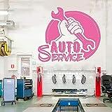 xingbuxin Auto Service Vinyle Sticker Voiture Services Fenêtre Vinyle Autocollant Automobile Voitures Murales Pneus Réparation...