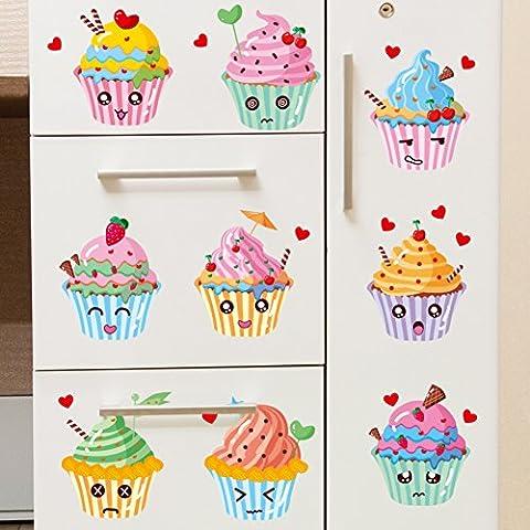 ice cream,boisson,magasin de bonbons,summer,autocollants pour fenêtres fenêtre/expressions,belle,stickers autocollants drôles-A