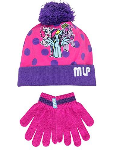 Mio mini pony - set di cappelli e guanti del ragazze - my little pony - 6 - 8 anni