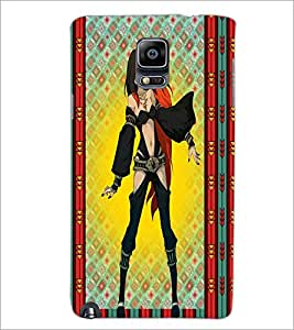 PrintDhaba Bold girl D-2878 Back Case Cover for SAMSUNG GALAXY NOTE 3 (Multi-Coloured)