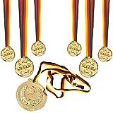 KSS 6 X große Gold Medaillen + 1 X Gold Medaille Mega groß ! Für Kindergeburtstag Tombola MItgebsel Mitbringsel