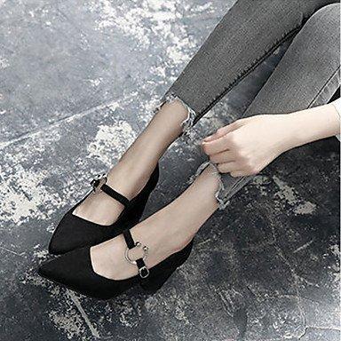 RTRY Donna Luce Tacchi Suole Pu Estate Abbigliamento Casual Blocco Fibbia Tacco Cammello Nero 2A-2 3/4In US7.5 / EU38 / UK5.5 / CN38